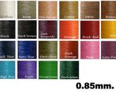 0.85mm/Waxed cord/ 200yards -MIxed Colors Macrame cord