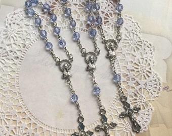 10 pcs  First communion favors / Mini  Rosary Baptism Favors / Baptism favors / Religious Mini Rosary / Narelo