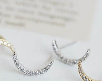 crescent MOON earrings >> wicked awesome
