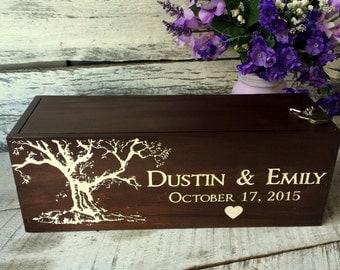 Wine Box, Wedding Wine Box, Wedding Love Letter Box, Anniversary, Gift for Newlyweds Wine Box, First Anniversary Box