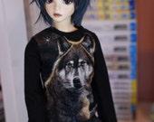 SD BOY Black wolf shirt