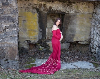 Maternity Belly Photography Gown