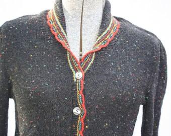 Darling Dark Gray Cardigan Sweater Size X-Small/ Small
