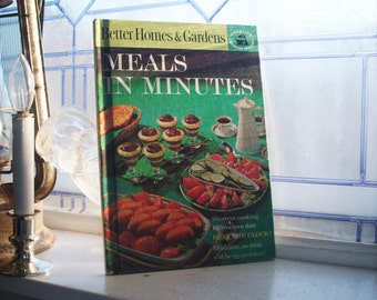 Vintage Cookbook Better Homes and Gardens Meals In Minutes 1963
