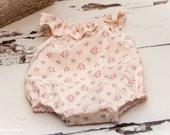 NEWBORN Romper - Photo Prop - 100% Cotton Jane White - newborn outfit, photography
