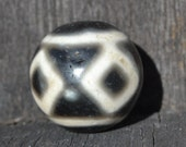 Round four eye dzi bead  DZB1353