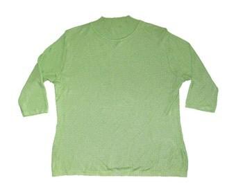 Lime Soft- Knit Turtleneck