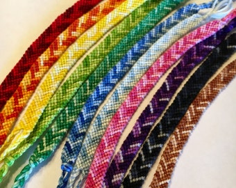 Rainbow Ombré Chevron Friendship Bracelets