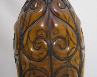 Italian Glass Pendant Light, Cased Glass