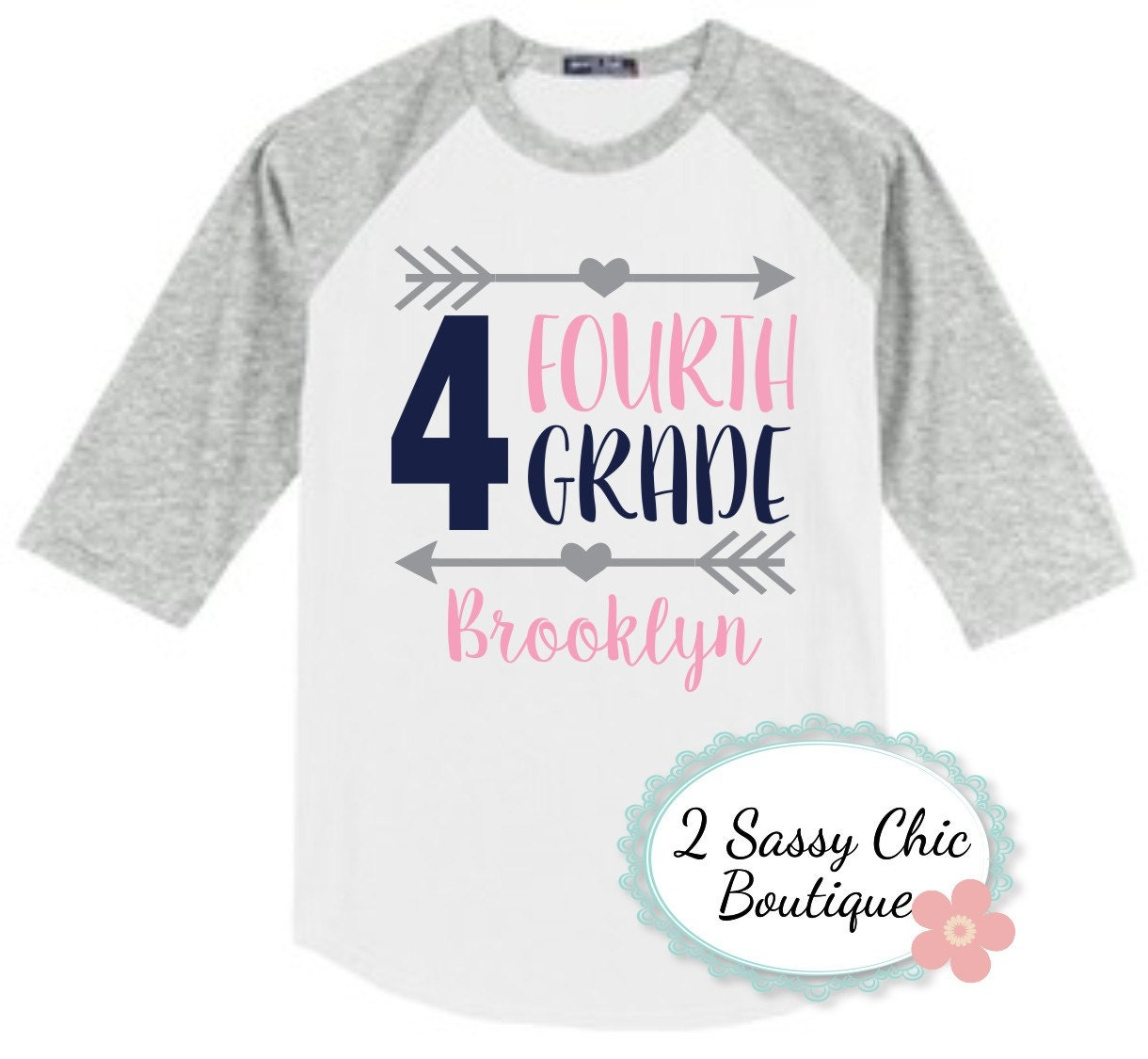 Fourth Grade Back To School Raglan Shirt Kindergarten School