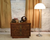 Mid Century Modern Brutalist nightstand, table, end table, small credenza