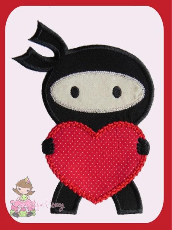 Little Love Ninja applique design