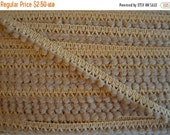 "ON SALE Beige Mini Ball Trim. 1/2"" Width. 3 Yards."