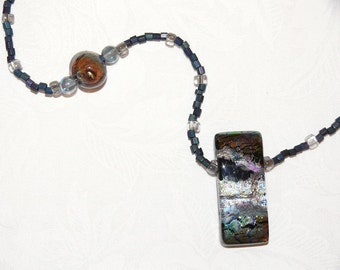 N29 - Dichroic glass  necklace