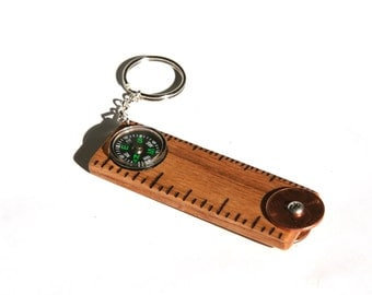 Key Chain Ruler Compass Bottle Opener Multi-Tool
