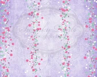 4ft x 4ft SWANKY ORIGINAL / Vinyl Photography Backdrop / Fairy Tale Texture / Bokeh Streamers