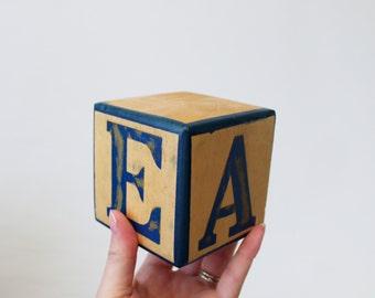 Solid Wood Alphabet Block - Wooden Letter Display Block Spells BEAR - Wooden Name Block Nursery Decor
