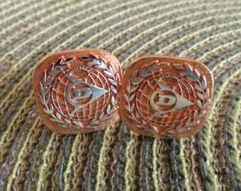 B592)  Vintage Dunlop Cuff Links