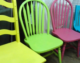 painted dining chairs mix match vintage all wood