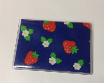 Mother's Day Gift, Strawberry Handmade Debit Card Holder, Mini wallet