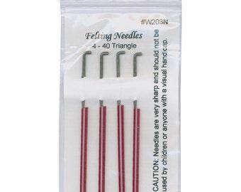 Wistyria Felting Needles 4 Size 40  Triangle