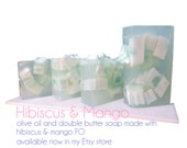 Hibiscus and Mango MP double butter Glycerin soap