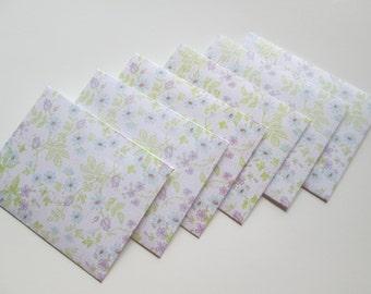 Floral Envelopes, set of 6