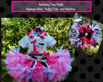 Country Tutu OUtfit, Barn Yard Cow Tutu, Farm Girl Birthday OUtfit