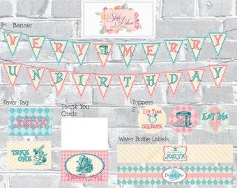 Very Merry Unbirthday Invitation/Printable Package
