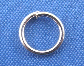 Silver Jump Rings - Antique Silver - Open - 21 Gauge - 7mm Dia. - 100pcs - Ships IMMEDIATELY from California - F337
