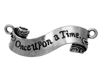 Once Upon a Time Connectors - Antique Silver - 45x15mm - 2pcs -  Ships IMMEDIATELY from California - SC1285
