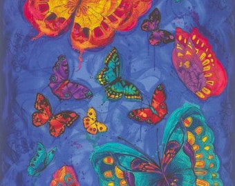 Timeless Treasures - Butterfly Panel by Chong-a Hwang