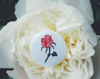 Rose 1 inch pinback button
