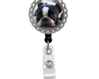 Boston Terrier Id Badge Reel Lanyard Name Tag Holder