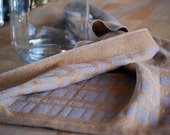 Handwoven Tea or Kitchen Towel Stone Wall- Amber