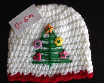 Christmas tree hat 0-6m