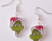 New Dr Suess The Grinch Christmas Novelty Earrings
