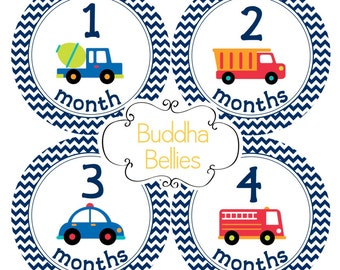 Baby Month Stickers For Baby Boy Cars Planes Trucks Month Stickers Baby Stickers Baby Shower Gift Photo Baby Month Milestone Sticker B183