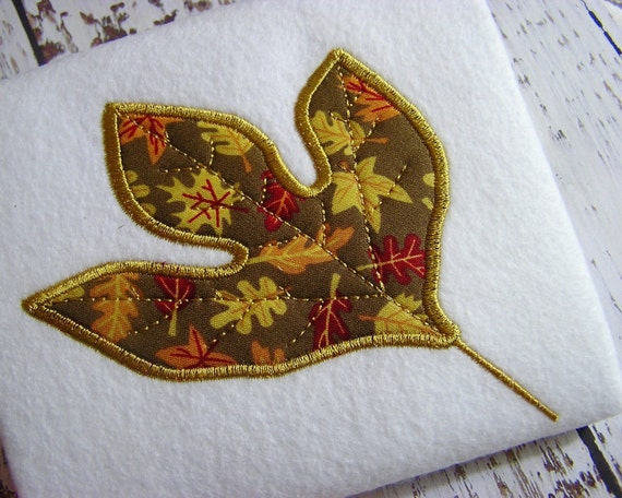 Items similar to sale off appliqué fall leaf machine