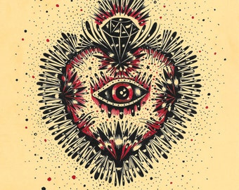 CYCLOPE SACRED HEART (limited edition print) 1/50