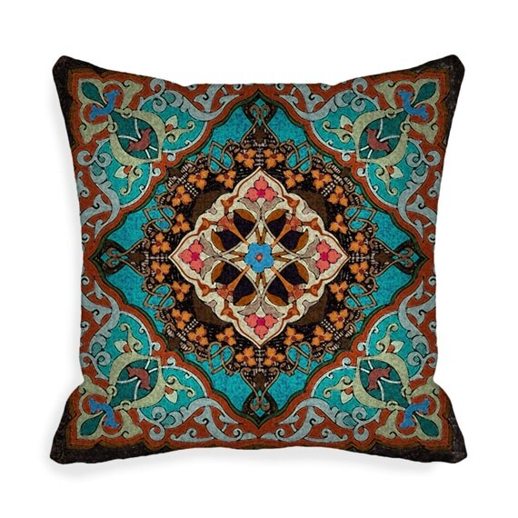 Boho Pillow Cover Decorative Throw Pillow Covers 18 X 18 Inch