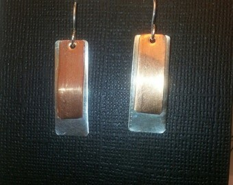 Copper and sterling silver dangles