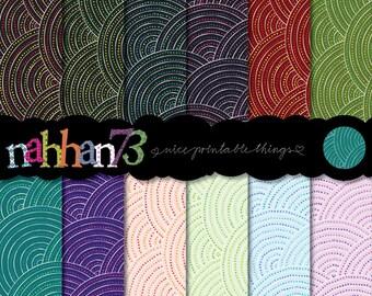 Digital Scrapbook Paper Pack - Inspired by Aboriginal Art (A4 - 300 dpi)  - 24 Digital papers by nahhan73 (SP-001)