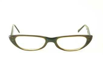 Vintage dark brown plastic American optical women's eyeglasses