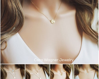 Initial Necklace / Personalized Gift/ Custom Initial Necklace / Initial Link Necklace / Personalized Wedding /Mothers Gift / Best Friends /