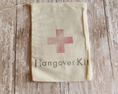 Set of 10 Bachelor Bachelorette Party Hangover Kit Muslin Drawstring Bags