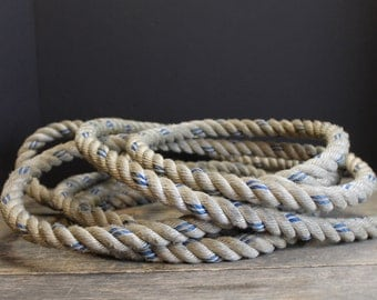 Vintage Three-Strand Twisted Nautical Rope