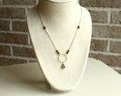 Labradorite and Pyrite Gemstone Necklace, Sterling Silver