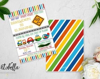 Planes, Trains, Auto! Birthday Party