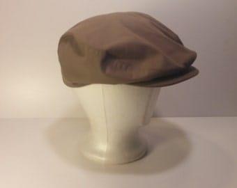 Vintage 1960s K Brand Newsboy Khaki Cap - Made in USA - Size MEDIUM, Mid Century, Hipster, Cool Hat Bro